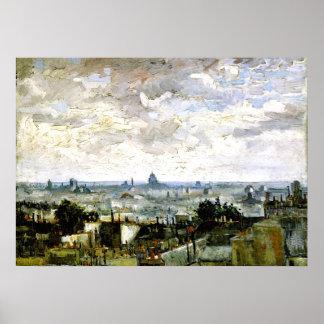 Van Gogh - Dächer von Paris Poster