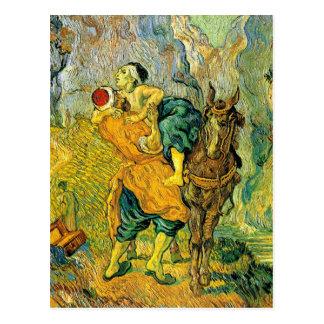 Van Gogh - der barmherzige Samariter Postkarte