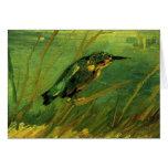 Van Gogh der Eisvogel, Vintage Impressionismus-Kun Grußkarte