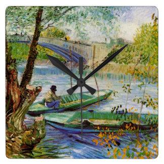 Van Gogh, der im Frühjahr, Vintage feine Kunst Quadratische Wanduhr