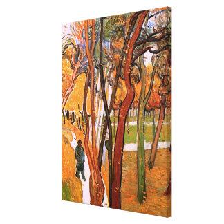 Van Gogh der Weg: Fallendes Blätter, Vintage Kunst Leinwanddruck