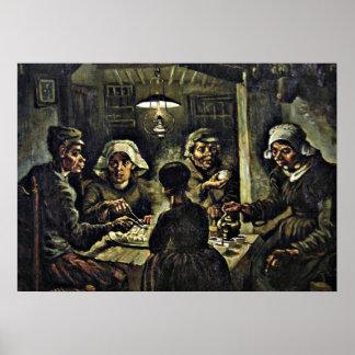 Van Gogh - die Kartoffel-Esser Poster