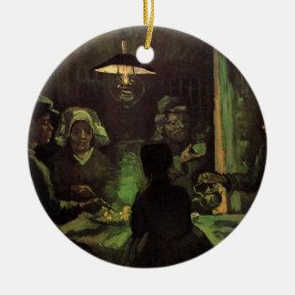 Van Gogh; Die Kartoffel-Esser, Vintager Keramik Ornament