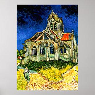 Van Gogh - die Kirche bei Arles Poster