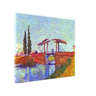 Van Gogh - die Langlois Brücke bei Arles Leinwanddrucke