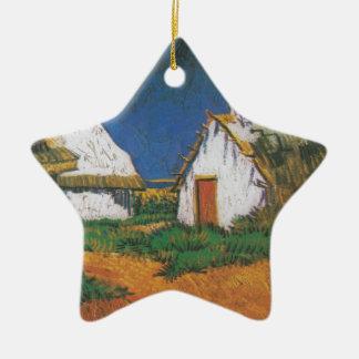 Van_Gogh_-_Drei_weiße_Hütten_in_Saintes-Maries Keramik Ornament