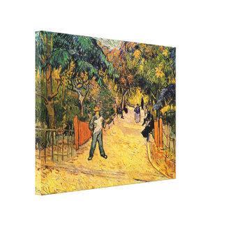 Van Gogh, Eingangs-allgemeiner Park, Arles, Leinwanddruck