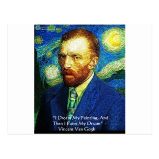 "Van Gogh ""Farbe meine Traum-"" Postkarte"
