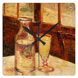 """Van Gogh """"Glas der Wermut-und ein Carafe-"""" Uhr Quadratische Wanduhr"""