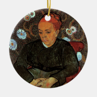 Van Gogh, La Berceuse, Wiegenlied, Vintages Rundes Keramik Ornament