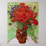 Van Gogh ; La vie toujours : Pavots et marguerites Poster