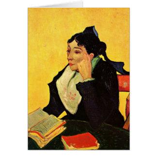 Van Gogh, L'Arlesienne: Madame Ginoux mit Büchern Karte