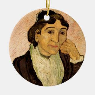 Van Gogh; L'Arlesienne (Madame Ginoux) Porträt Keramik Ornament