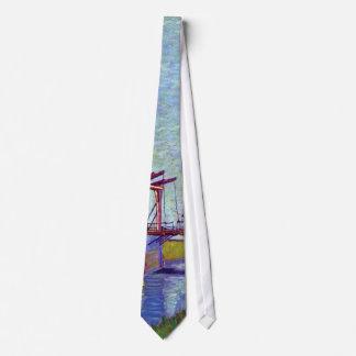 Van Gogh - le pont de Langlois chez Arles Cravates Personnalisées