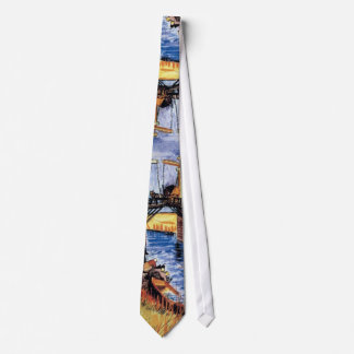 Van Gogh - le pont de Langlois chez Arles Cravate Personnalisable
