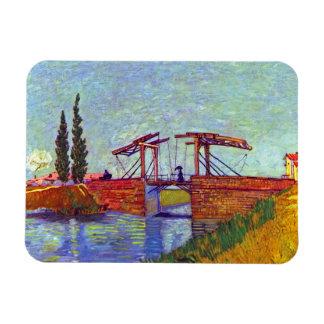 Van Gogh - le pont de Langlois chez Arles Magnets Souples