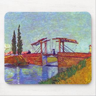 Van Gogh - le pont de Langlois chez Arles Tapis De Souris