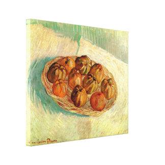 Van Gogh Leben-Korb-Apfel-Vintage feine Kunst noch Leinwanddruck