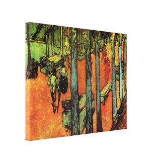 Van Gogh; Les Alyscamps: Fallendes Herbst-Blätter Leinwanddruck