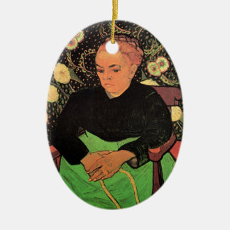 Van Gogh; Madame Roulin Rocking die Wiege Ovales Keramik Ornament