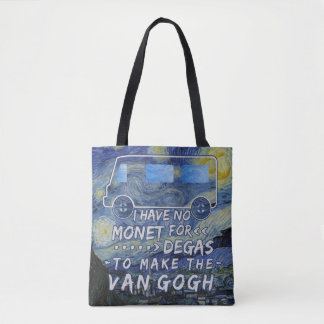 Van Gogh Monet entgasen lustiges Tasche