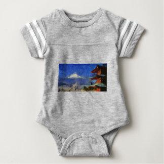Van Gogh Mt-Fuji-Japan Baby Strampler
