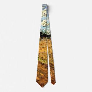 Van Gogh pflog Feld, Vintage feine Kunst Bedruckte Krawatte