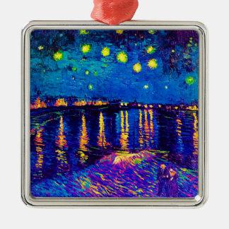 Van Gogh - Starry Nacht über der Rhône-Pop-Kunst Silbernes Ornament