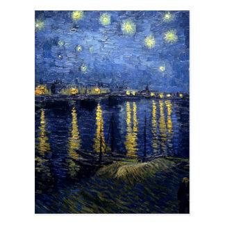 Van Gogh: Sternenklare Nacht über der Rhône Postkarte