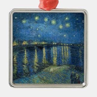 Van Gogh: Sternenklare Nacht über der Rhône Silbernes Ornament