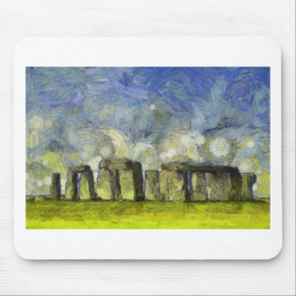 Van Gogh stonehenge Mousepads