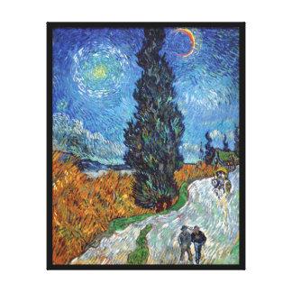 Van Gogh - Straße mit Zypressen-schöner Kunst Leinwanddruck