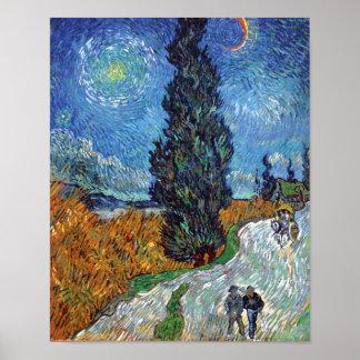 Van Gogh - Straße mit Zypressen-schöner Kunst Poster