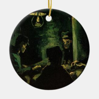 Van Gogh; Studie für die Kartoffel-Esser, Vintage Keramik Ornament