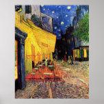 Van Gogh ; Terrasse de café la nuit, beaux-arts vi Affiches