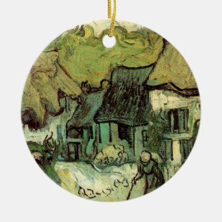 Van Gogh Thatched Hütte Jorgus, Vintage feine Keramik Ornament