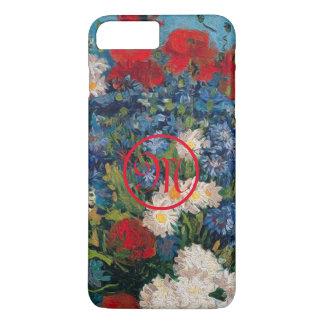 Van- Gogh u. Elizabeth-Blumen-Monogramm - iPhone 8 Plus/7 Plus Hülle
