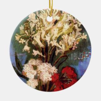 Van Gogh - Vase mit Gartennelken und anderen Rundes Keramik Ornament