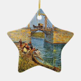 Van Gogh Vincent - die Langlois Brücke Keramik Ornament