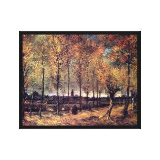 Van Gogh - Weg mit Pappeln Leinwand Drucke