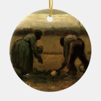 Van- Goghbauer und Bauer-Frau, die Kartoffel Keramik Ornament