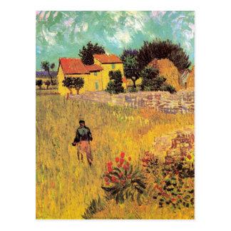 Van- Goghbauernhaus in Provence, Vintage feine Postkarte