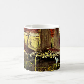 Van- Goghfisch-trocknende Scheune, Vintage feine Kaffeetasse