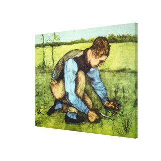 Van- Goghjungen-Ausschnitt-Gras mit Leinwanddruck