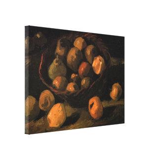 Van- Goghkorb der Äpfel, Vintage noch Leben-Kunst Leinwanddruck