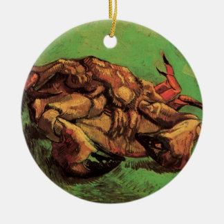 Van- Goghkrabbe auf seiner hinteren, Vintagen noch Keramik Ornament
