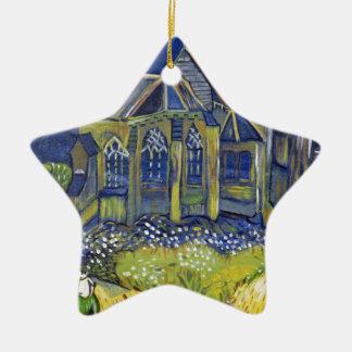 Van- Goghkunstwiedergabe, die Kirche bei Auvers Keramik Ornament