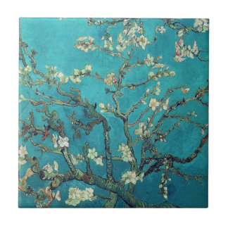 Van- Goghmandel-Blüten-Fliese