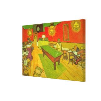Van- Goghnachtcafé, Vintage feine Kunst Leinwanddruck