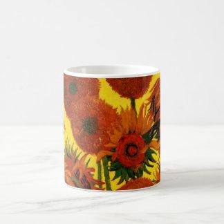 Van- Goghschöne Kunst, Vase mit 15 Sonnenblumen Kaffeetasse